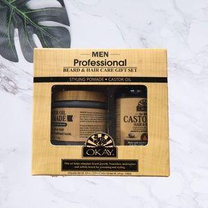 Men Beard Care Gift Set Pomade Hair & Beard Oil
